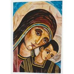 Virgen Maria con el niño...