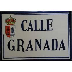 Rótulo para calle Granada...