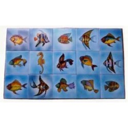 Azulejos variados de peces...