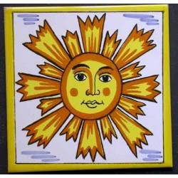 Azulejo sol Medida 15x15