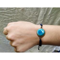 Pulsera con cordón azul